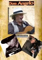 Italiaanse troubadour entertainer