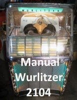 Manual boekwerk Wurlitzer 2104