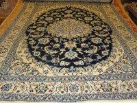 Perzische tapijt nain met zijde in