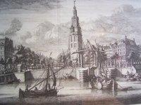 . 18e eeuwse gravure  Amsterdam