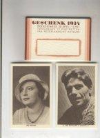 Boekenweekgeschenk jaar 1934 mapje+12 kaarten +1930;1946