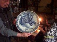 Mooie porseleinen Delfts blauwe borden