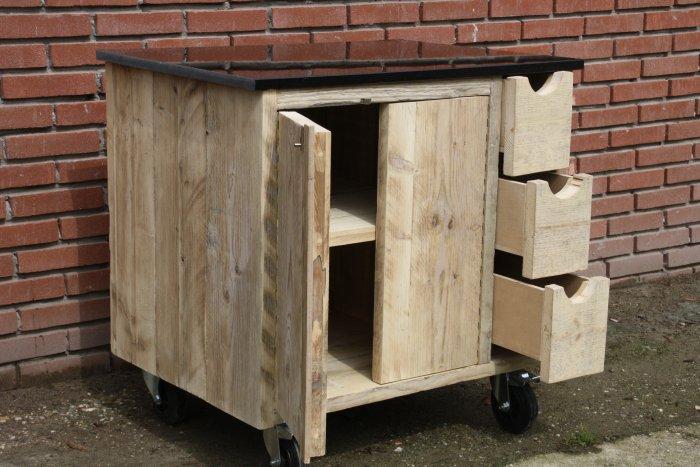 Houten Buiten Keuken : Buitenkeuken van steigerhout sloophout nieuwe modellen te koop