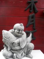 Boeddha met Koi