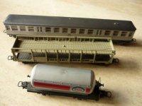 Drie Lima wagons: Lange gesloten+ open