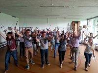 Swingende Braziliaanse trommel workshop van Brapewo
