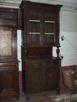 Prachtige antieke vitrinekast in eik.