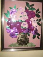 Prachtige schilderijen van stoffen gemaakt