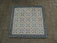 Oude,antieke tegels,vloertegels,cementtegels,vloer G26