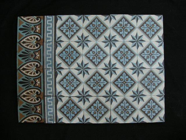 Oude Antieke Tegels Vloertegels Cementtegels Vloer G27 Te