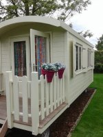 Pipowagen Zigeunerwagen buitenspeelgoed bouwkeet woonwagen TINY