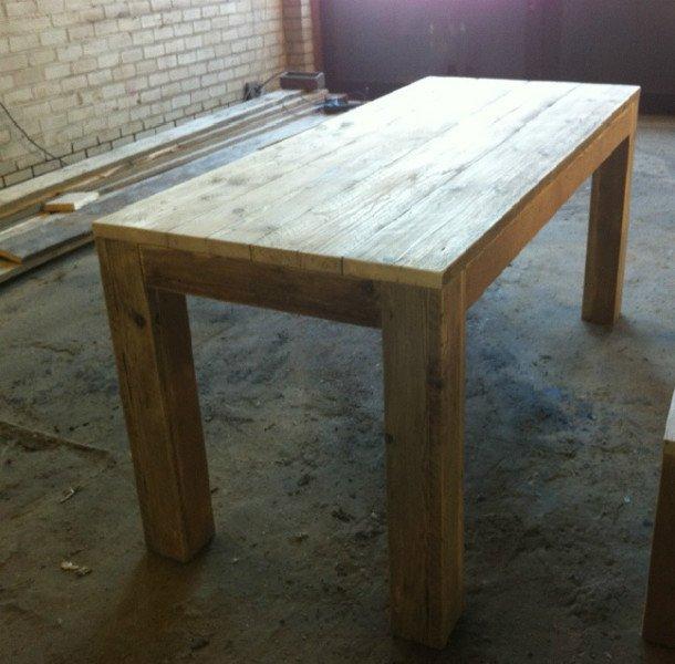 Tweedehands Design Meubels: Eettafel Steigerhout Stoer En Landelijk Te Koop Aangeboden