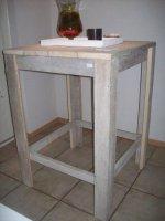 Steigerhout bar/staan/hang tafel