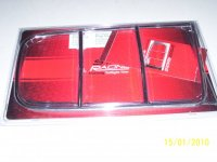 Mustang taillight trim chrome