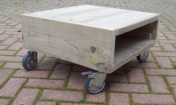 Salontafel op wielen te koop aangeboden op tweedehands.net