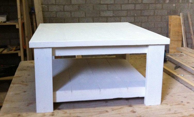 Salontafel 70x70 white wash te koop aangeboden op for Tweedehands meubels webshop