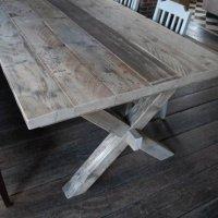 Tafel in gebruikt steigerhout 10% korting