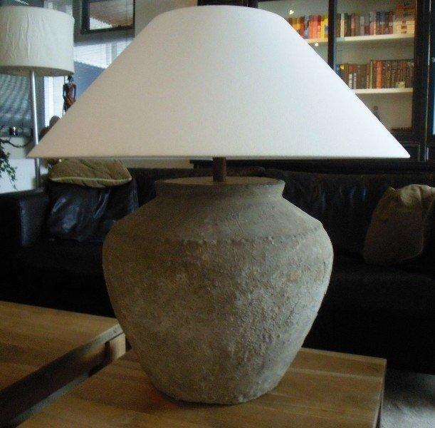 Beste Twee Stenen Vintage Landelijke Kruik- Tafel-lampen te Koop TV-15