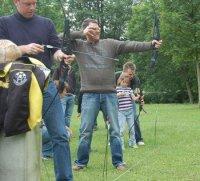 Boogschieten op locatie in de Ardennen