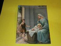 Prent briefkaarten 10 stuks Communie, Kerstfeest