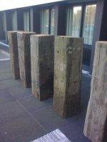 Hardhout  meerpalen meerpaal dukdalf sokkel