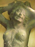 Fantastisch jugendstil THEATERbeeld: kariatide van bijna