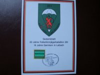 Gedenkblatt 20 Jahre Fallschirmjagerbataillon 261 in