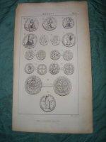 Engelse kopergravure over medailles