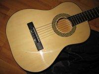 Akoestische klassieke gitaar met hoes en