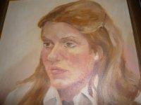 Aangeboden: Ton Pape olieverf 1975 portret meisje met lang blond haar € 250,-