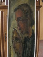Bijzonder werk Jozef en Maria geschilderd