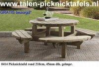 Ronde picknicktafel tuintafel