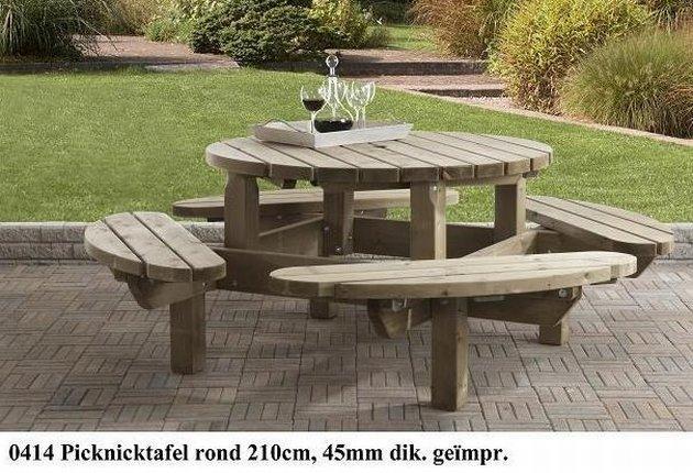 Ronde picknicktafel tuintafel te koop aangeboden op tweedehands.net