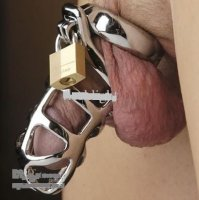 Steel Chastity Cock Cage met