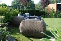 Wicker Loungeset | Curved Riet Rondwicker