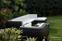 Arbrini Loungeset Wicker Curved NU SLECHTS