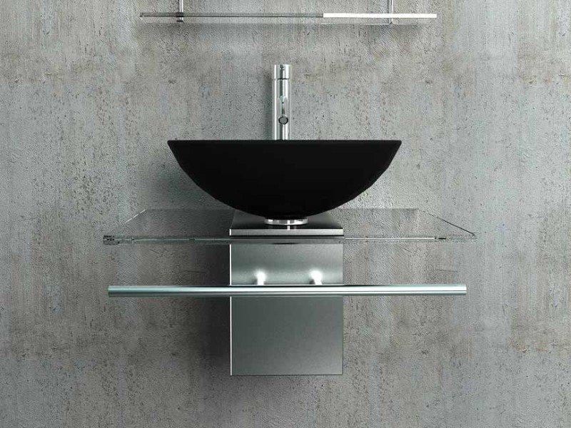 Design glazen wastafel met rvskast diverse kleuren te koop for Waskom kraan hoog