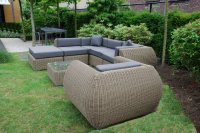 Arbrini Loungeset Curved Riet Rondwicker €1995,-