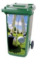 Golf kliko container sticker tee, golfstickers
