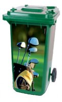 Golf kliko containersticker golgtas, golf bag,