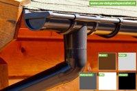 Kunststof dakgoot voor blokhut/ tuinhuis, chalet