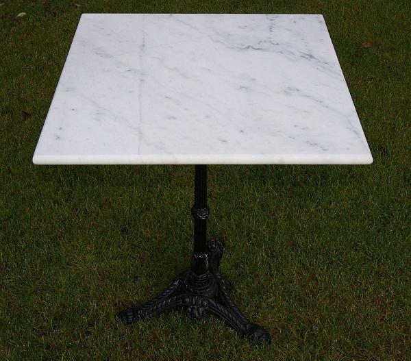 Gietijzeren Onderstel Tafel Te Koop.Vierkante Marmer Tafel Met Gietijzer Onderstel Nieuw Te Koop