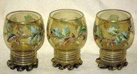 5 met de hand beschilderde glazen