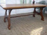 Aangeboden: Massief Houten tafel / blad 4cm dik n.o.t.k.