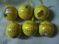 La Chouffe Kerstballen. Set van 6