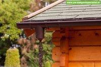 Bruine regen ketting voor uw dakgoot