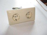 Dubbele inbouw stopcontacten
