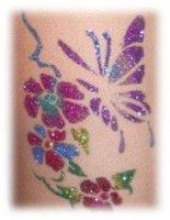 Glamour Glitter Tattoo glittertattoo glitters sjablonen,