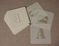 Aangeboden: Sjablonen sets letters en cijfers. 25mm tot 500mm. n.o.t.k.