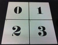 Aangeboden: Sjablonen sets - 25mm - 500mm letters en cijfers. n.o.t.k.